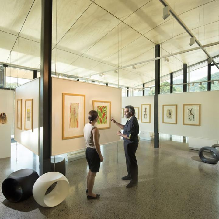 Interior of the indigenous art gallery